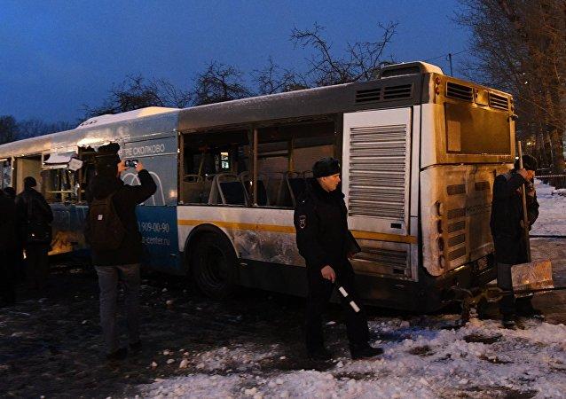 莫斯科西部「斯拉夫林蔭大道」地鐵站25日發生客車衝入地下通道事故