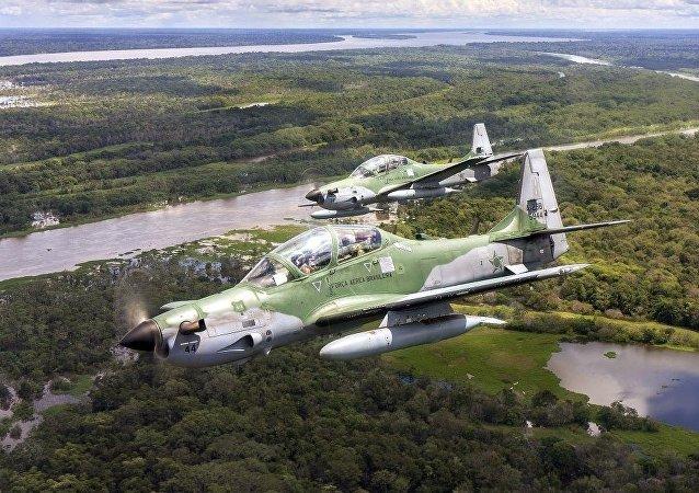 """巴西空军的A-29""""超级巨嘴鸟"""" (Super Tucano )轻型攻击机"""