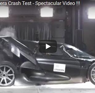 顶级超跑Regera撞击测试视频发布