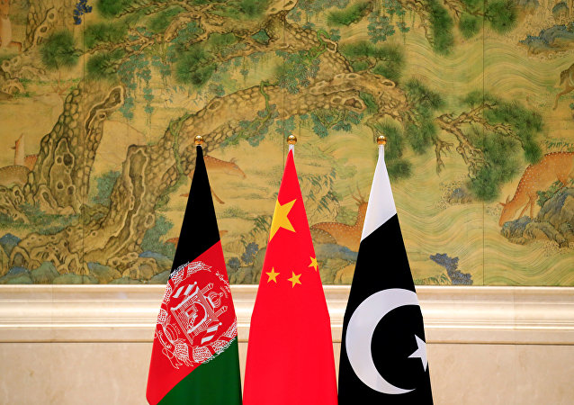 Afghan, Chinese and Pakistani flags