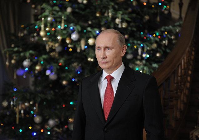 普京祝贺美国等西方国家首脑圣诞节和新年快乐