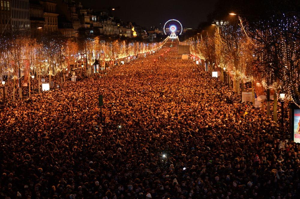 巴黎新年慶祝活動。