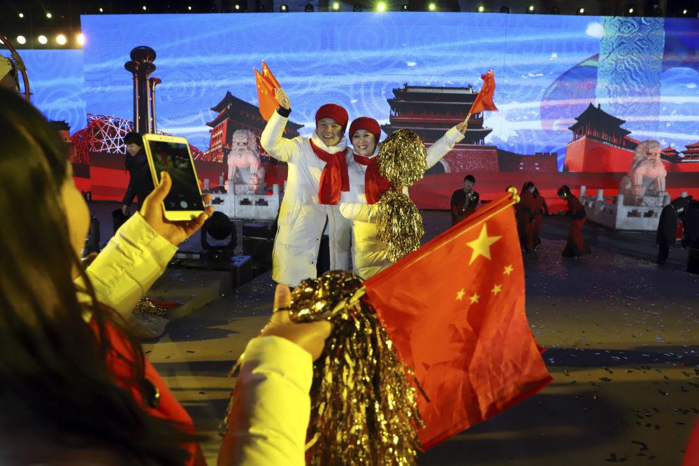 中國慶祝新年。