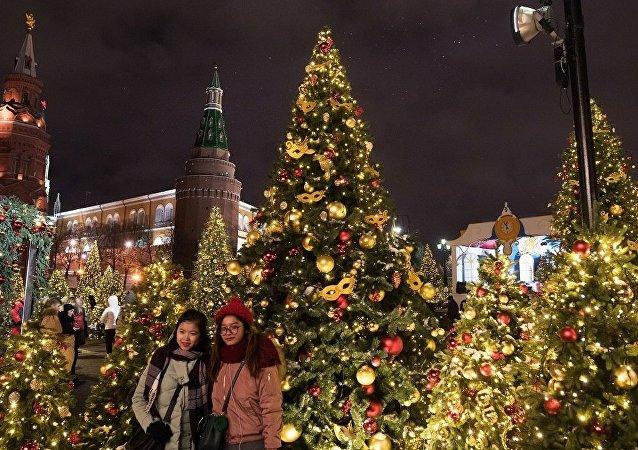 元旦期間莫斯科接待的外國遊客大部分將來自中國