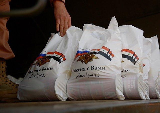俄军在一个偏远的叙利亚村庄采取人道主义行动
