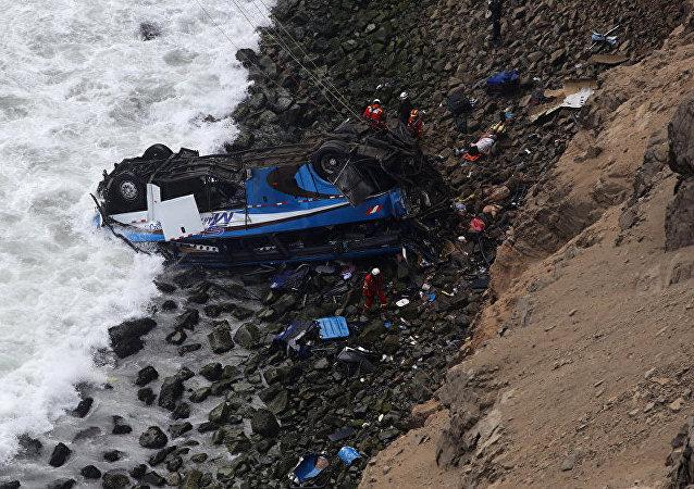 媒體:秘魯客車事故死亡人數增至51人