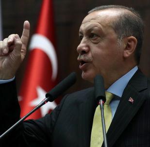 """土总统埃尔多安表示,在击溃""""伊斯兰国""""后,美国在叙利亚的军事存在旨在针对土耳其、俄罗斯和伊朗"""