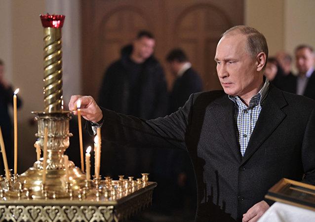 普京祝贺东正教徒圣诞节快乐