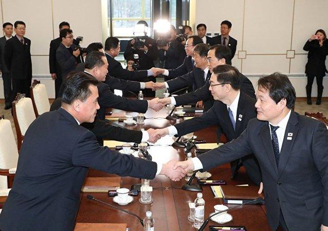 朝韩双方会谈
