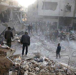 武装分子炮击大马士革市中心和郊区导致五人受伤