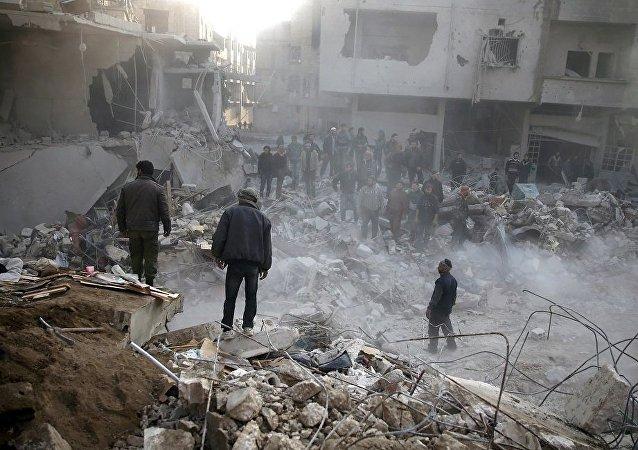 叙大马士革市中心遭迫击炮袭击 一人丧生