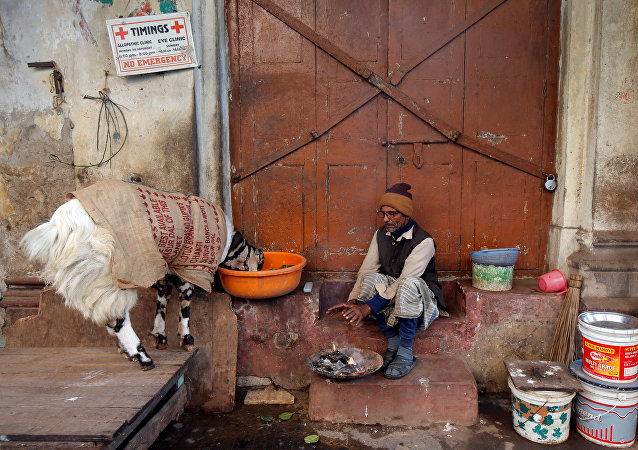 印度北方邦遇嚴寒