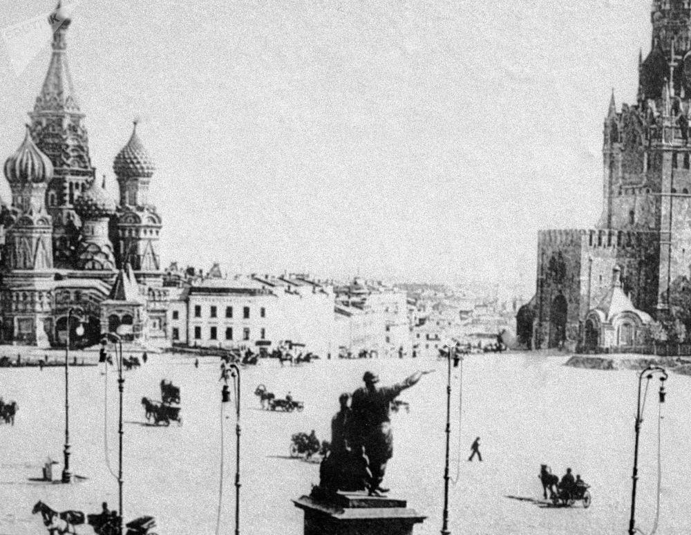 莫斯科红场,1896年。