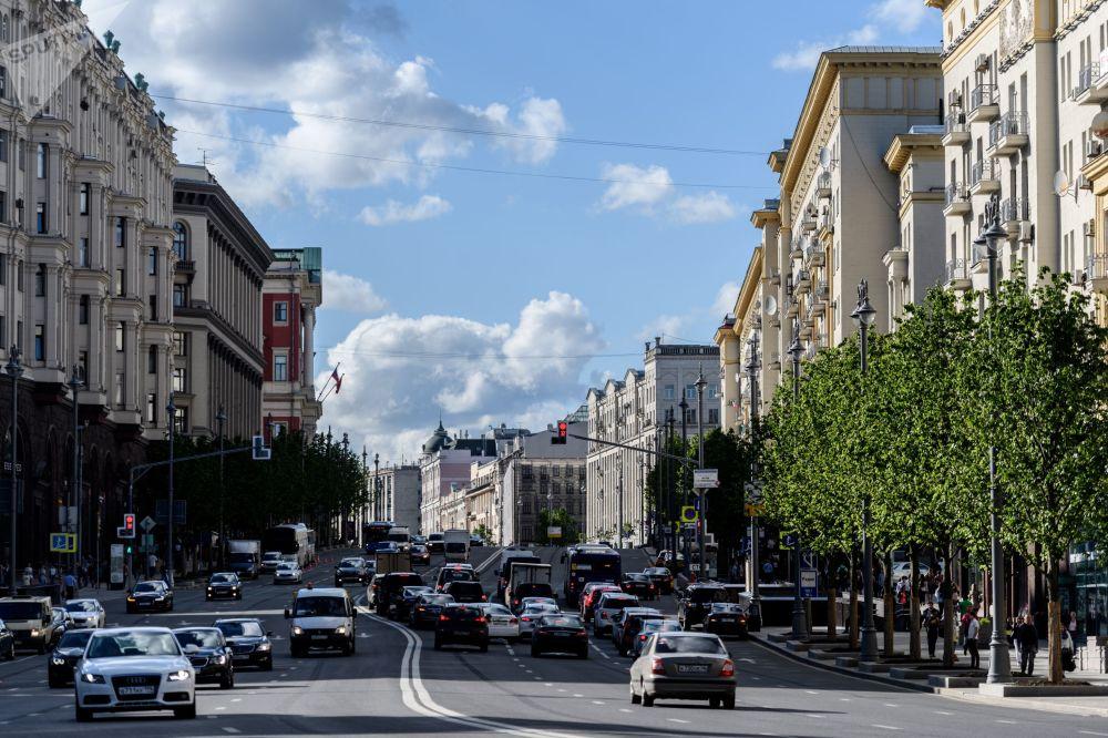 莫斯科特维尔大街,2017年。