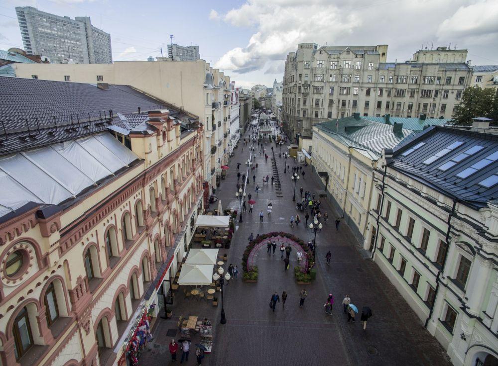 莫斯科阿尔巴特大街,2016年。