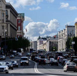 Тверская улица  в Москве. 2017 год