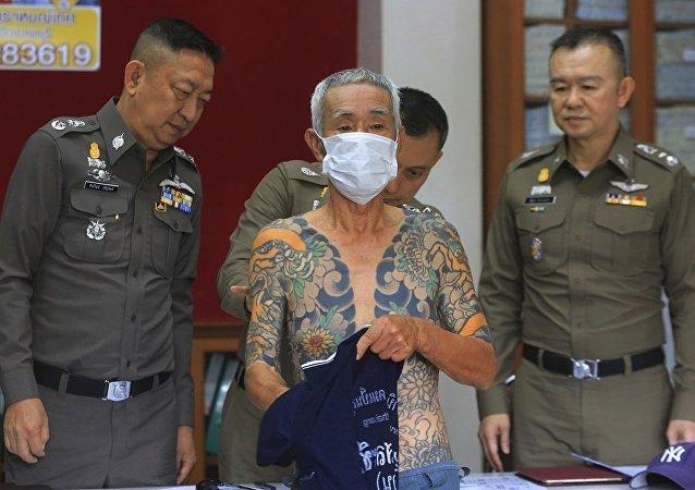 泰國警方扣押一名日本黑幫頭子