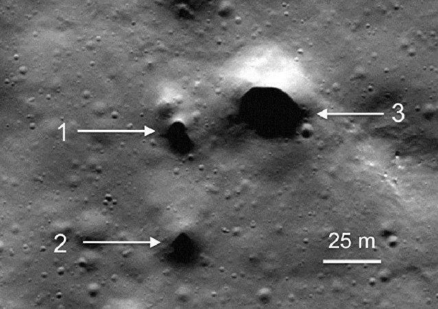 美国宇航局的探测器在月球上发现了灭绝的火山痕迹