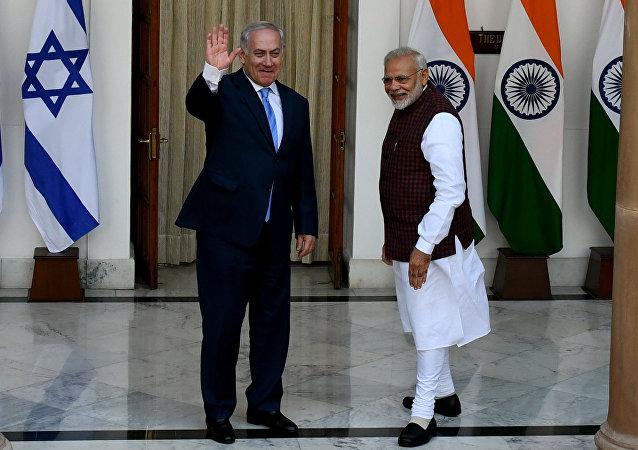 以色列总理内塔尼亚胡1月15日在对印度进行为期6日的访问