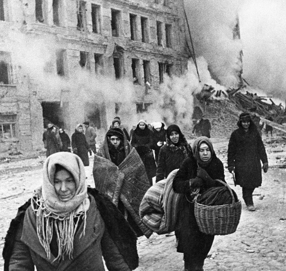 被围困的列宁格勒居民