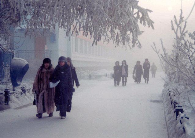 俄气象专家称雅库特出现零下50度严寒