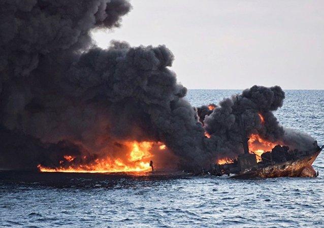 中國政府已確定伊朗沈沒油輪位置 周圍水深115米