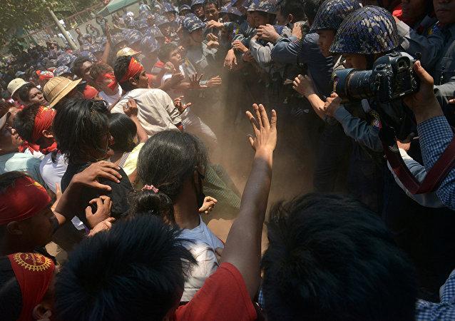 缅甸若开邦示威冲突