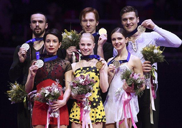 俄羅斯花滑選手包攬花滑歐錦賽雙人滑獎牌