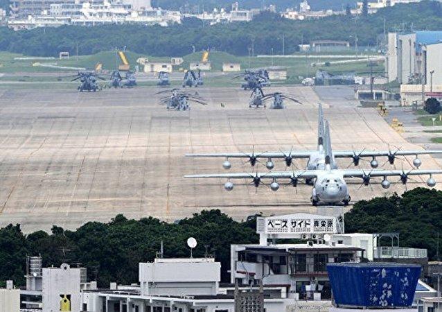 日本冲绳岛的美国基地