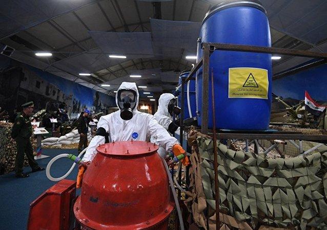 在叙利亚发现并没收了一台制造有毒物质的原始简易装备