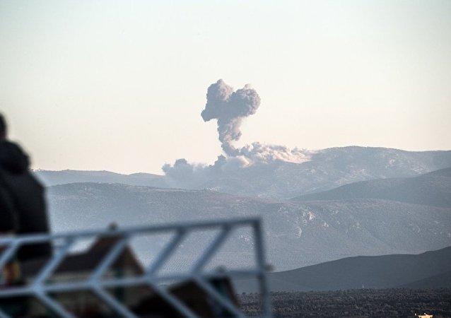 土耳其空军开始空袭阿夫林地区库尔德武装