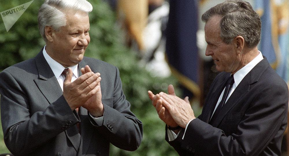 叶利钦和老布什