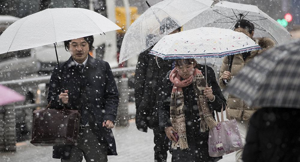 日本强降雪