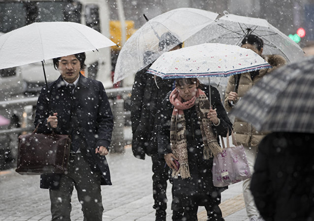 日本強降雪