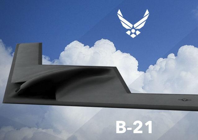 "B-21战略轰炸机""袭击者"""