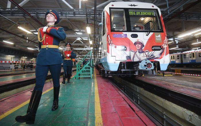莫斯科地鐵啓用「勝利列車」
