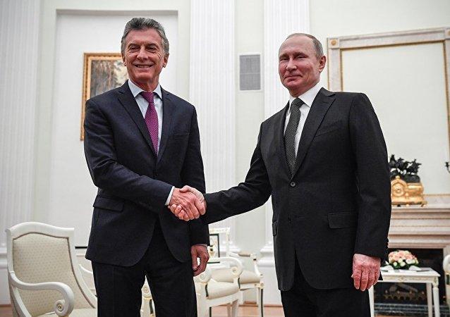 俄羅斯總統普京與阿根廷總統馬克里