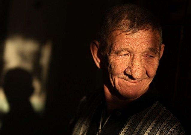 俄罗斯养老院的一名老人