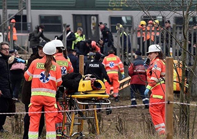 意大利北部火车脱轨致2死10重伤