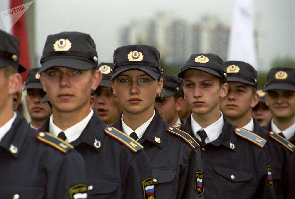 俄罗斯内务部的军事学员