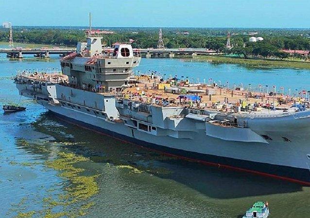 """印度国防部称""""维克兰特""""号航母成功进行系泊试验"""