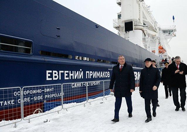 在赫尔辛基建造的破冰船以叶夫根尼·普里马科夫的名字命名