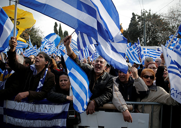 """""""马其顿是希腊""""大规模集会"""