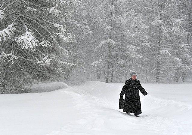 莫斯科積雪深度突破百年紀錄