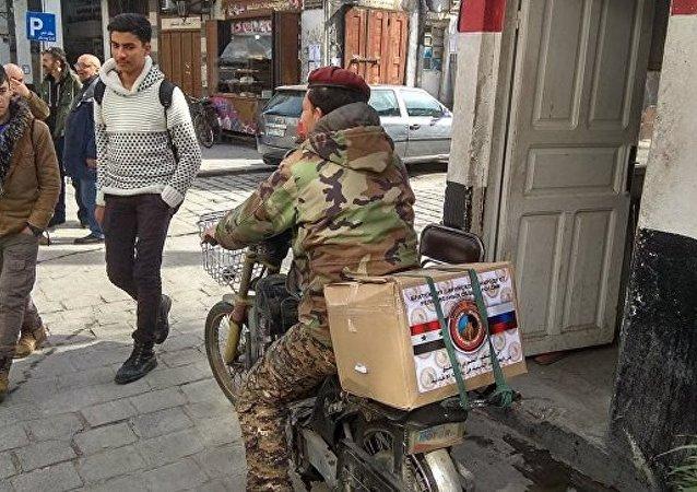 大馬士革市中心兩處發放俄羅斯人道援助物資的站點遭到迫擊炮襲擊