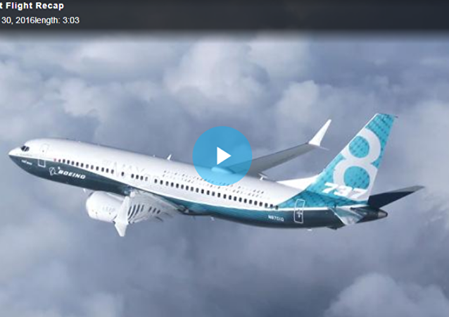 波音公司首架737 MAX 7型客机亮相