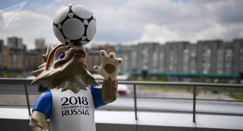 带有2018世界杯参赛队伍标志的大型桌布将在喀山织就并展出