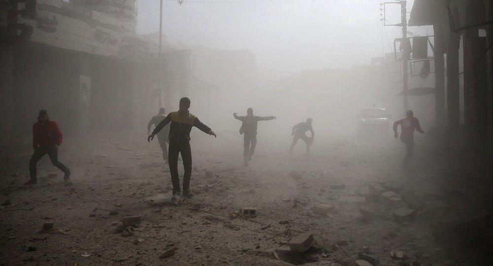 """俄军总参谋部表示,在化武挑衅后,美国作为""""报复""""计划对大马士革政府区进行导弹打击"""