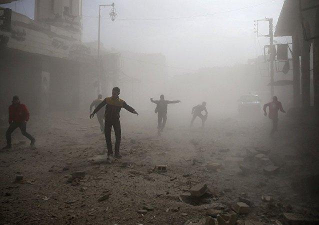 大马士革再遭武装分子炮击 导致2死4伤