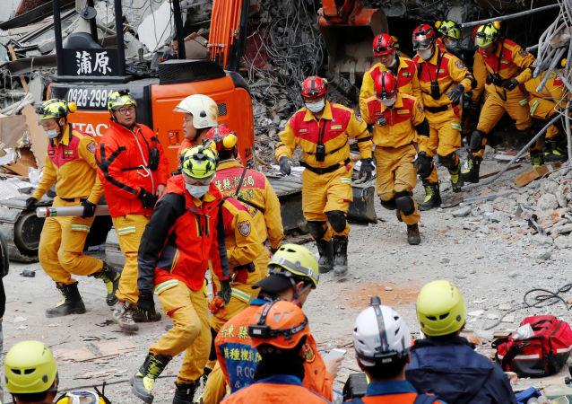 2月6日,台湾东北部花莲县附近海域发生6.5级地震